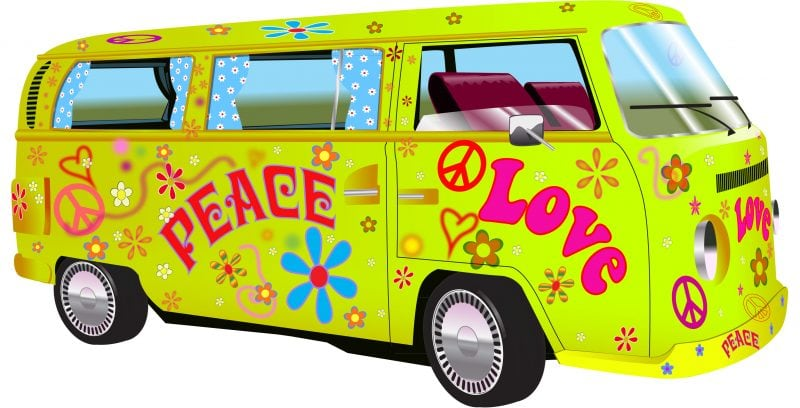 Hippy Van Driving To An SEO Convention